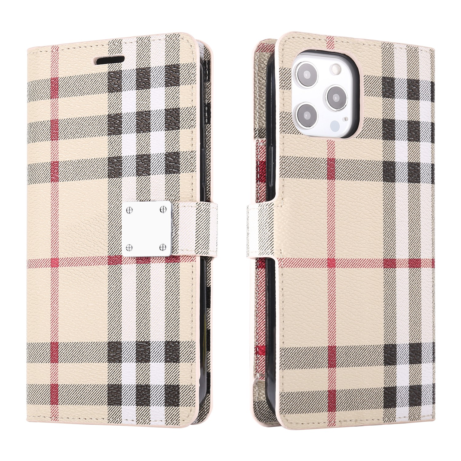 LUX Wallet Case for Apple iPhone 7P/8Plus-Burberry Red