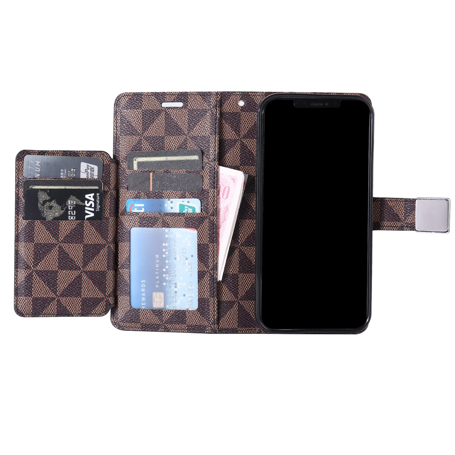 LUX Wallet Case for Apple iPhone 7/8/SE 2020-Brown