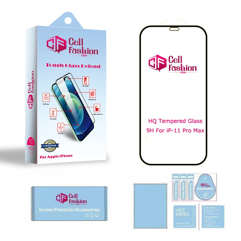 10Pack Tough Glass Defend For Apple iPhone 11 Pro Max (Clear)