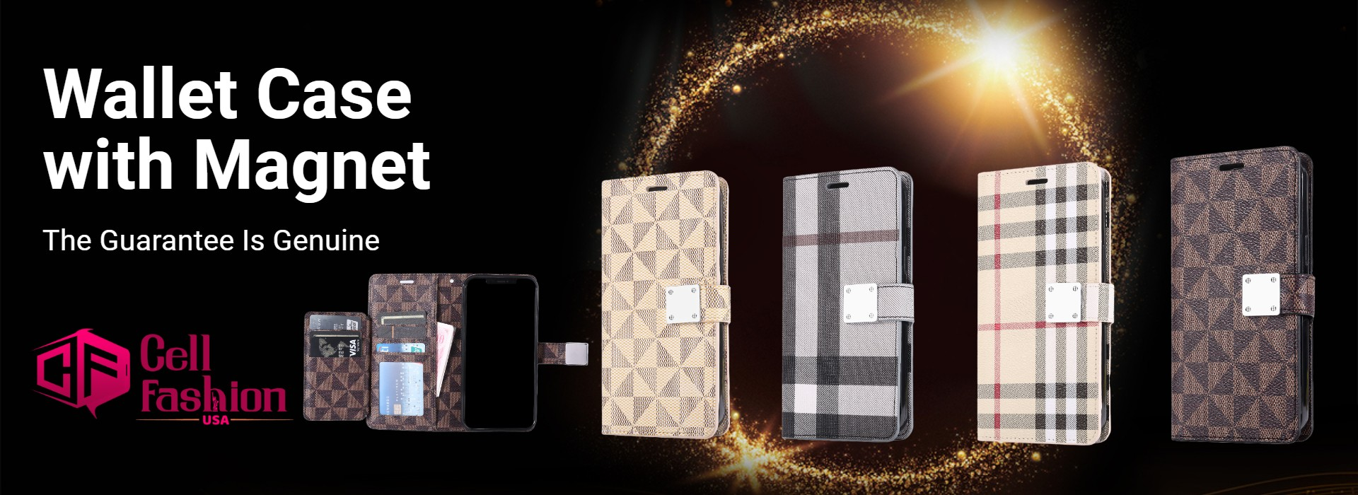LUX Wallet Case for Apple iPhone 11-Golden