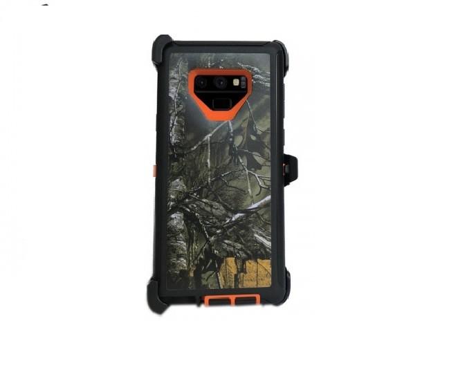 Defend Heavy Duty For SAMSUNG NOTE 9 – Orange Camo