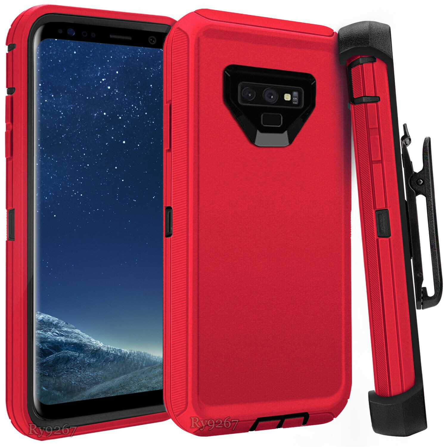 Defend Heavy Duty For SAMSUNG NOTE 9 – RED