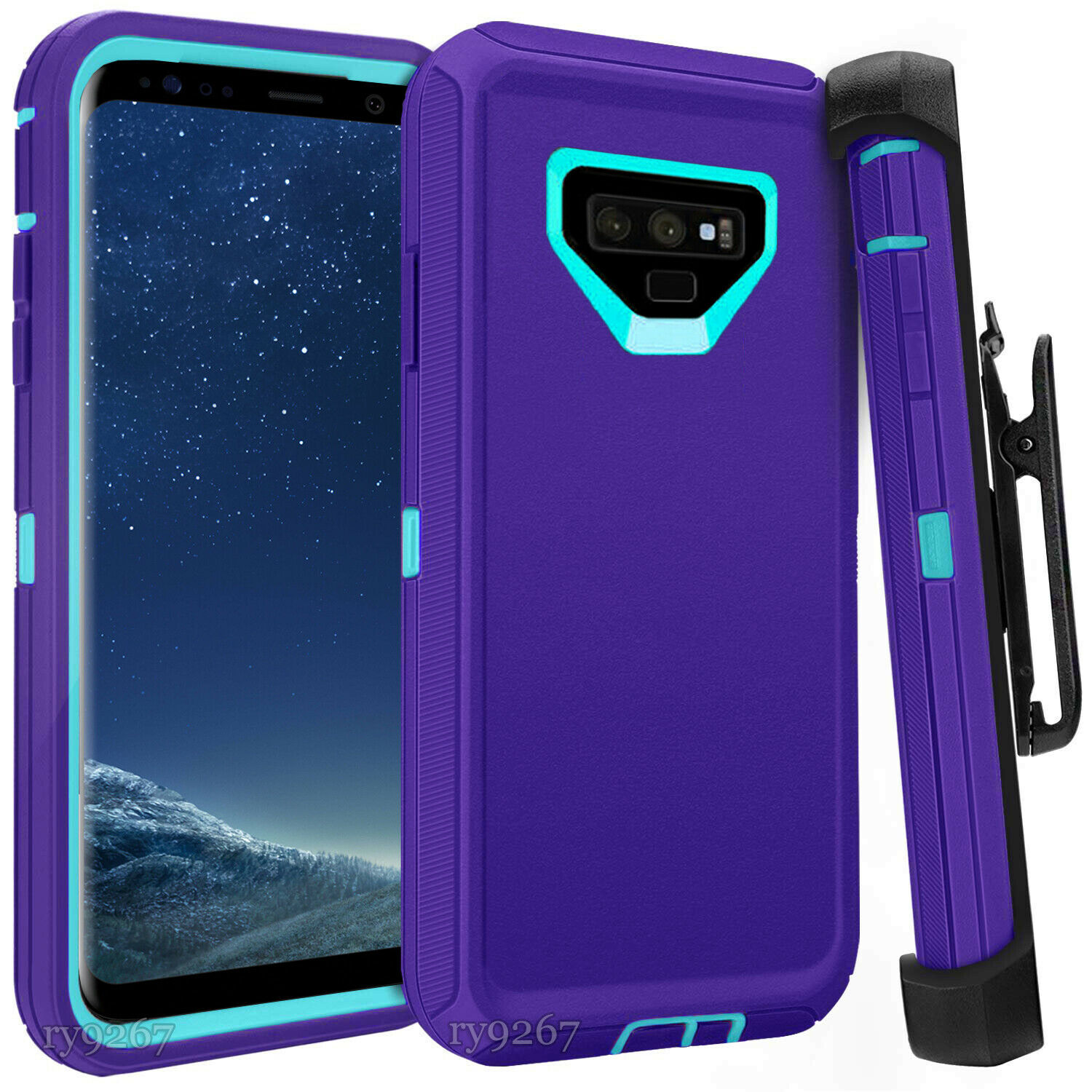 Defend Heavy Duty For SAMSUNG NOTE 9 – Purple Teal