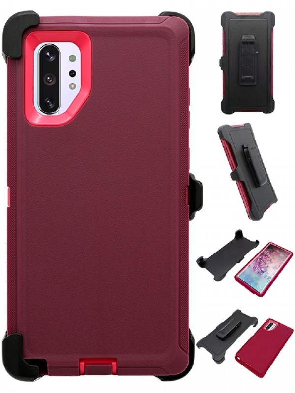Defend Heavy Duty For SAMSUNG NOTE 10 – Burgundy