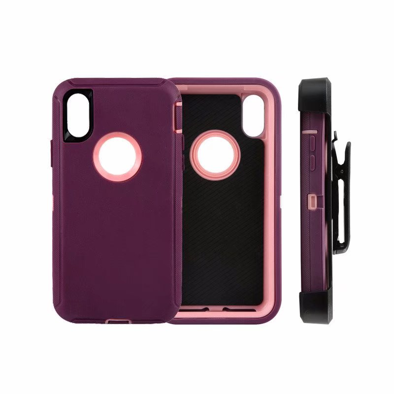 Defend Heavy Duty For Apple iPhone X/XS- Burgundy