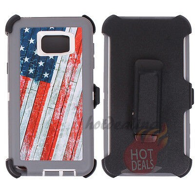 Defend Heavy Duty For SAMSUNG NOTE 5–USA Flag