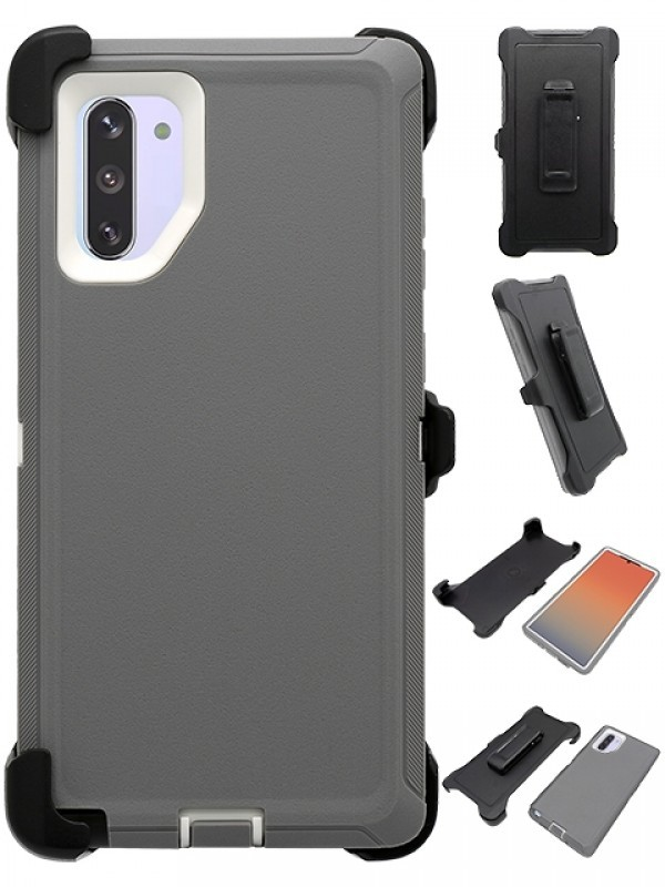 Defend Heavy Duty For SAMSUNG NOTE 10 – Gray & White