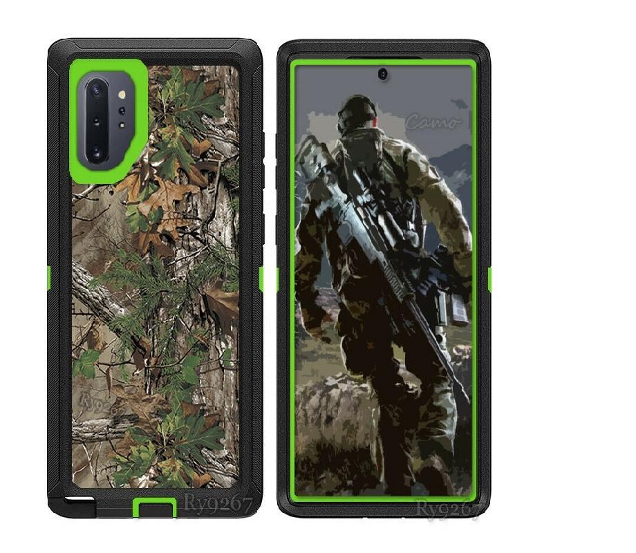 Defend Heavy Duty For SAMSUNG Glaxy S21 Ultra-Green Camo