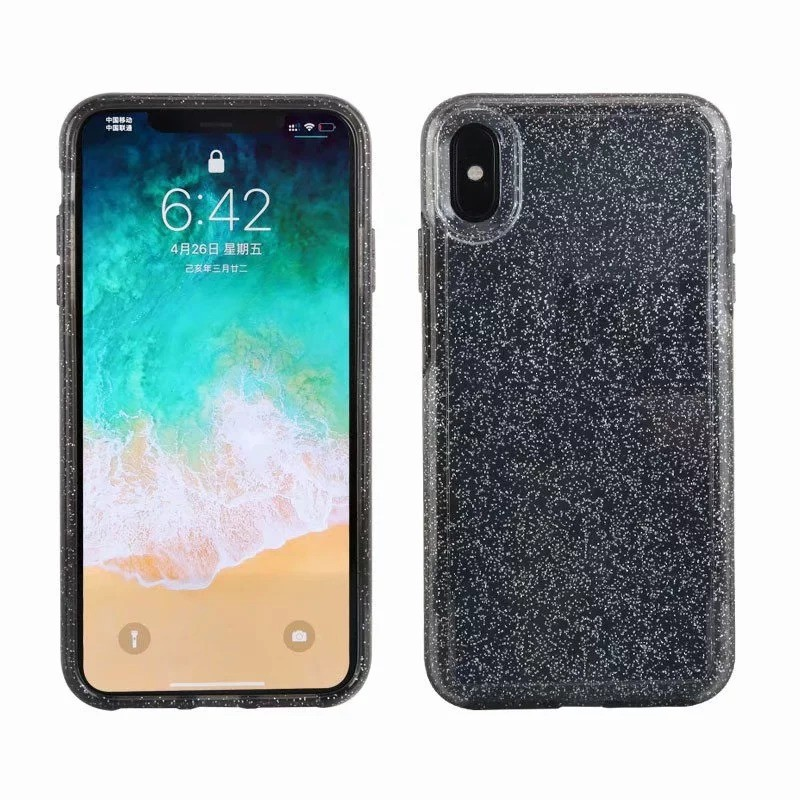 Uniformity Series For Apple iPhone XS Max- Clear Glitter