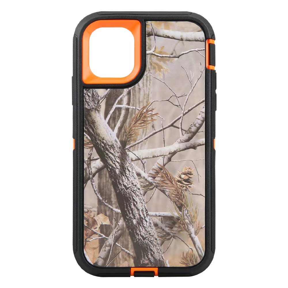 Defend Heavy Duty For Apple iPhone 11 Pro Max -Orange Camouflage