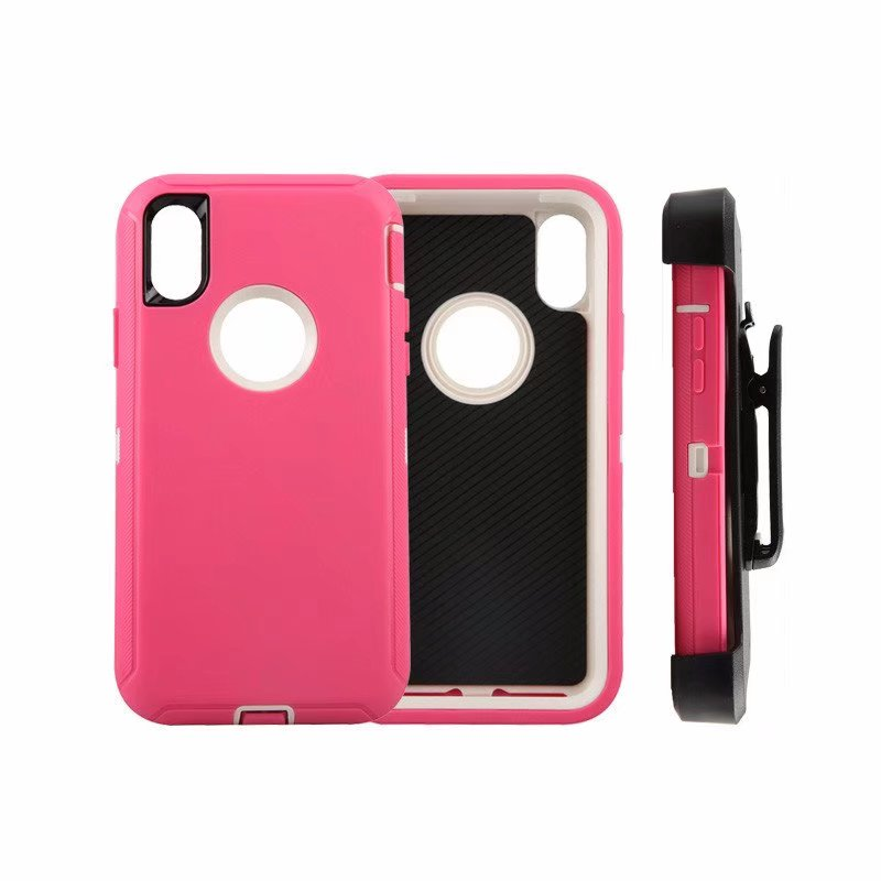Defend Heavy Duty For Apple iPhone X/XS- Pink