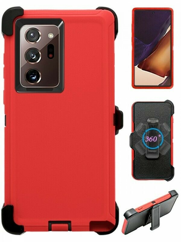 Defend Heavy Duty For SAMSUNG NOTE 20 –Red