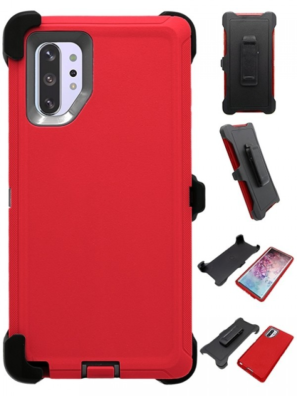 Defend Heavy Duty For SAMSUNG NOTE 10 Pro/Plus- Red