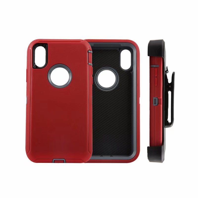 Defend Heavy Duty For Apple iPhone X/XS- Red