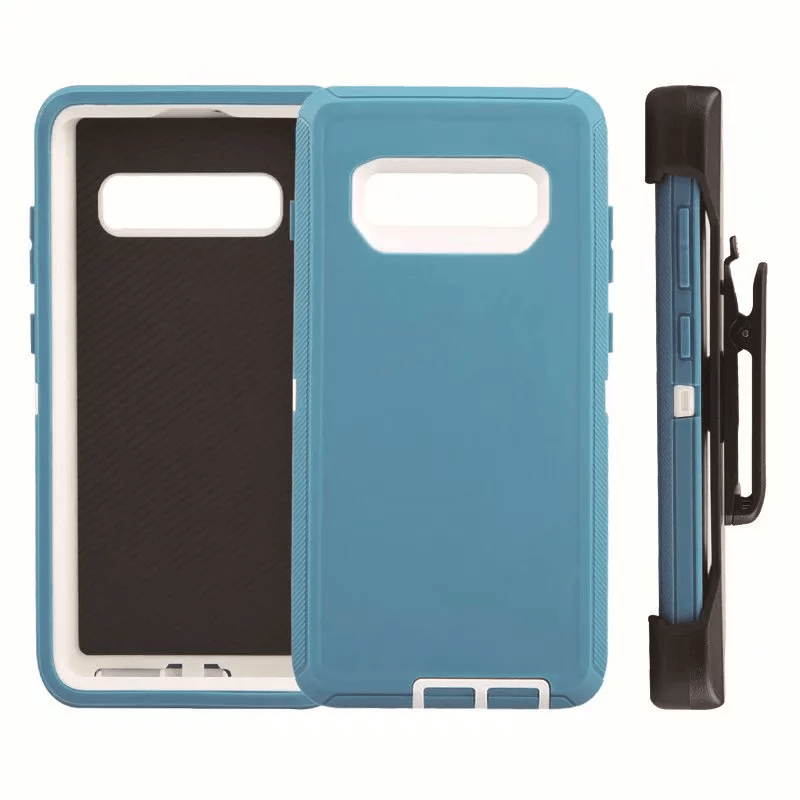 Defend Heavy Duty For SAMSUNG Glaxy S10 Plus-Teal & White