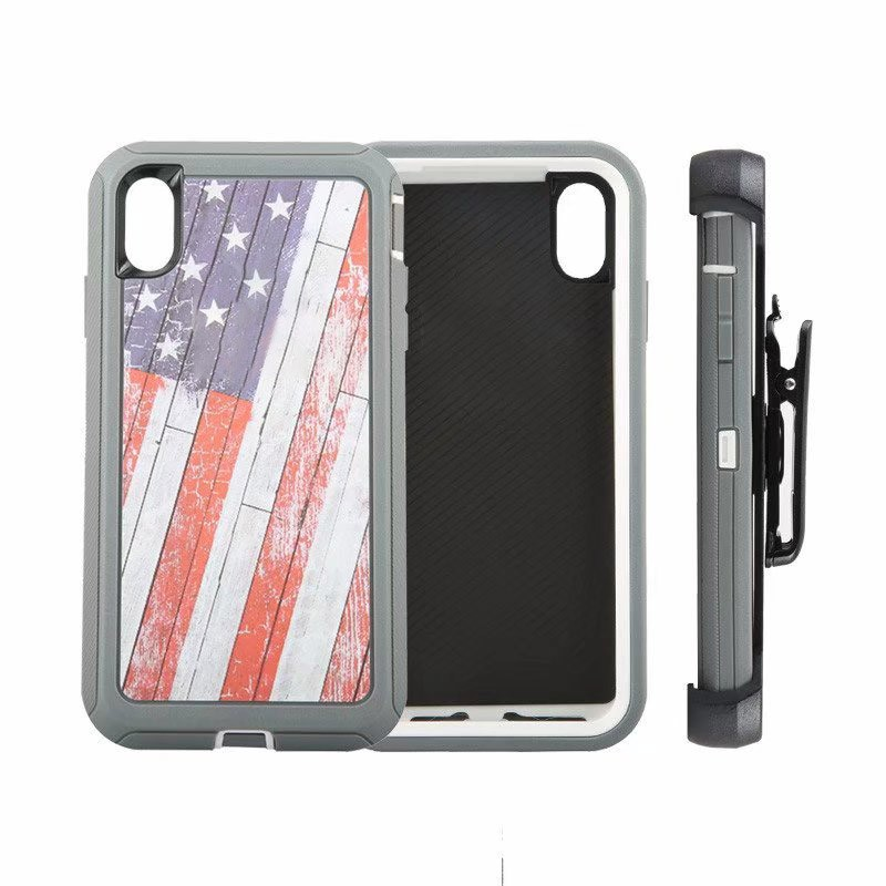 Defend Heavy Duty For Apple iPhone X/XS- U.S Flag