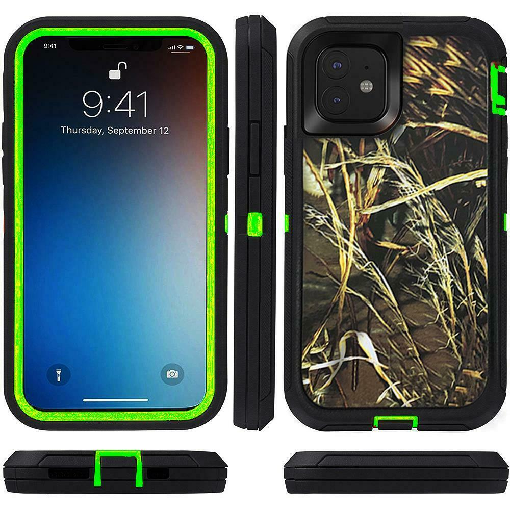 Defend Heavy Duty For Apple iPhone 11 Pro Max -Green Camouflage