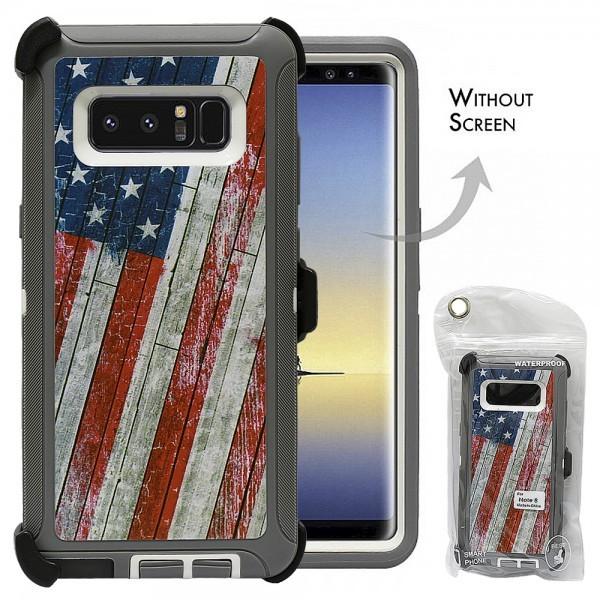 Defend Heavy Duty For SAMSUNG Glaxy Note 8-U.S Flag
