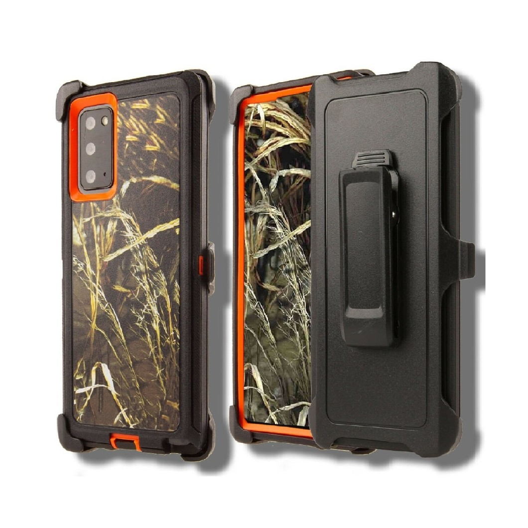 Defend Heavy Duty For SAMSUNG NOTE 20 – Orange Camouflage