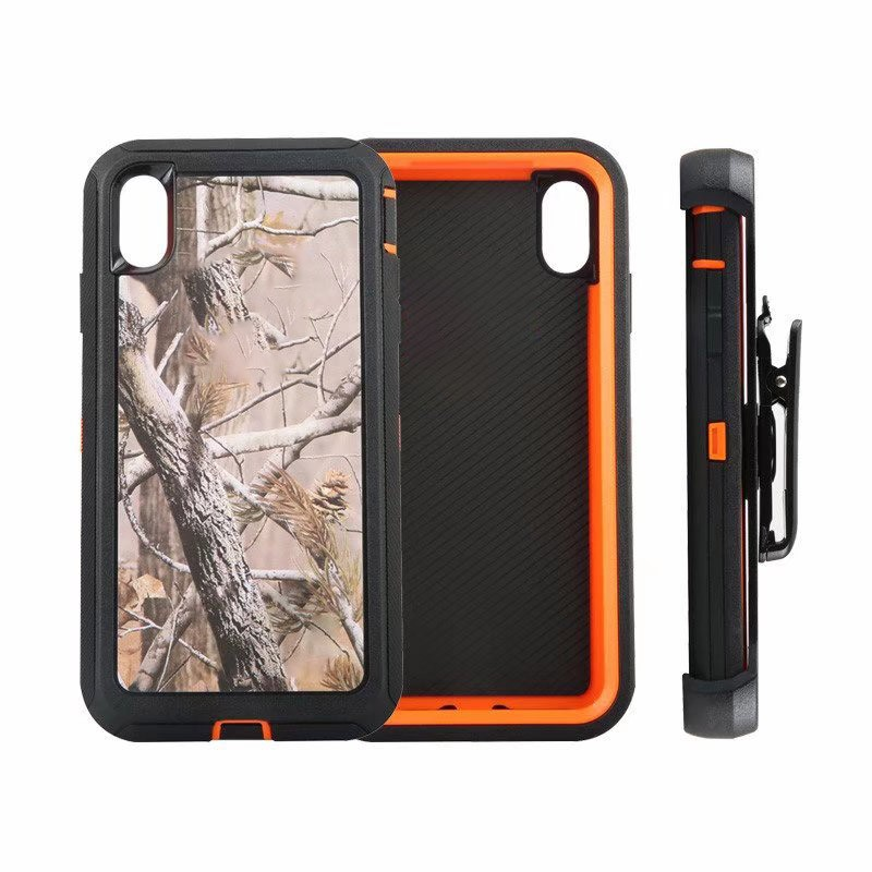 Defend Heavy Duty For Apple iPhone  X/XS- Orange Cameo