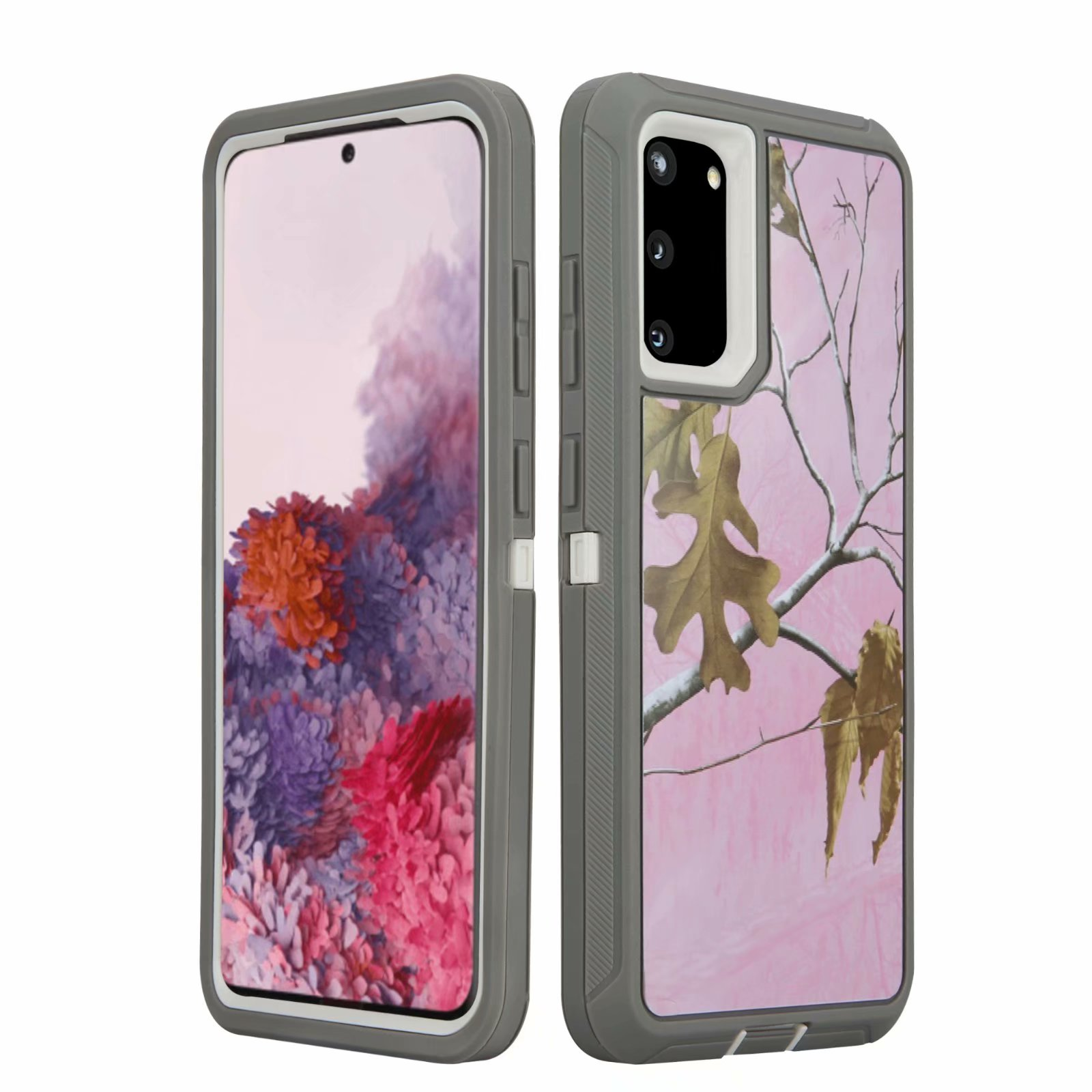 Defend Heavy Duty For SAMSUNG Glaxy S20 Ultra-Pink Camo