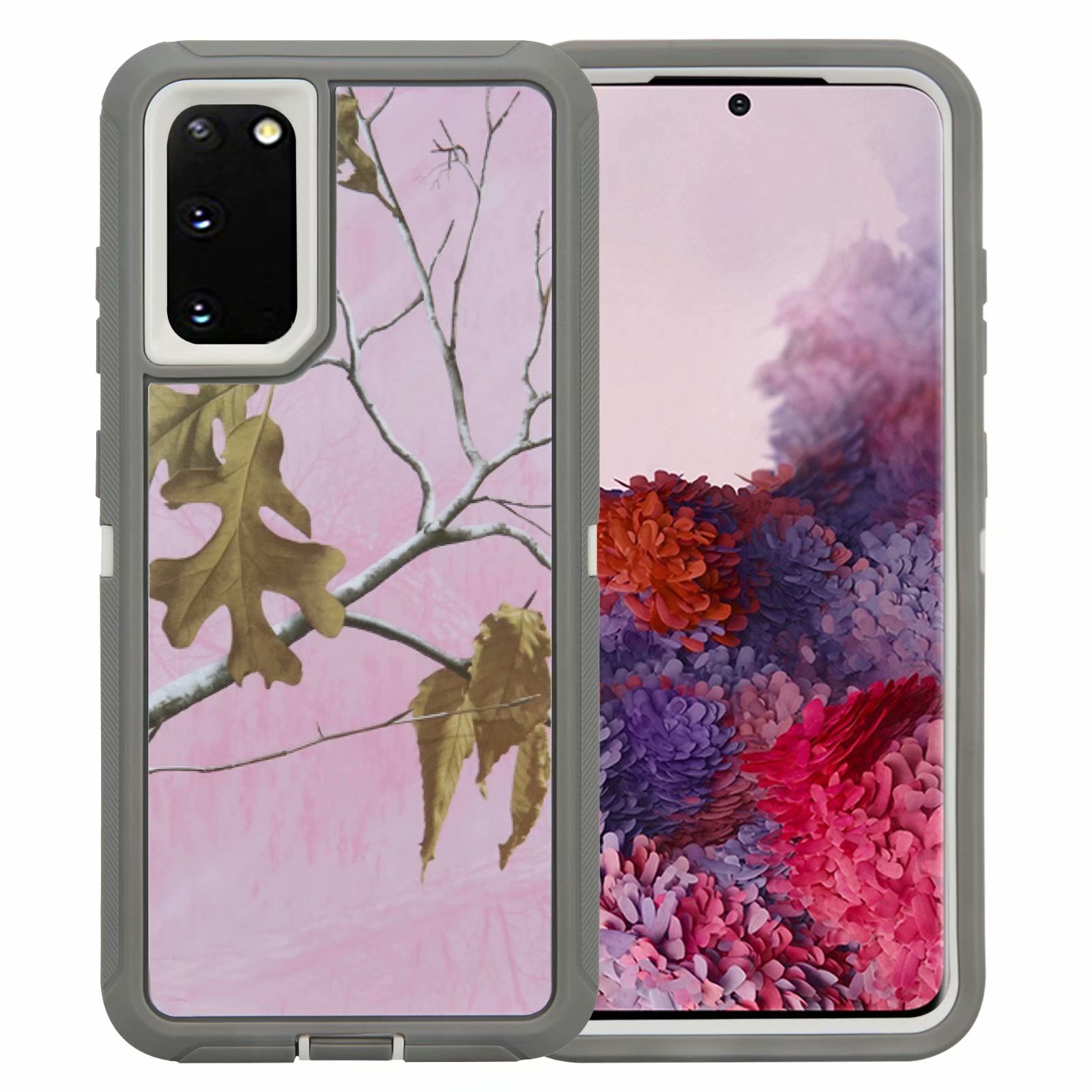 Defend Heavy Duty For SAMSUNG Glaxy S20 Plus-Pink Camo