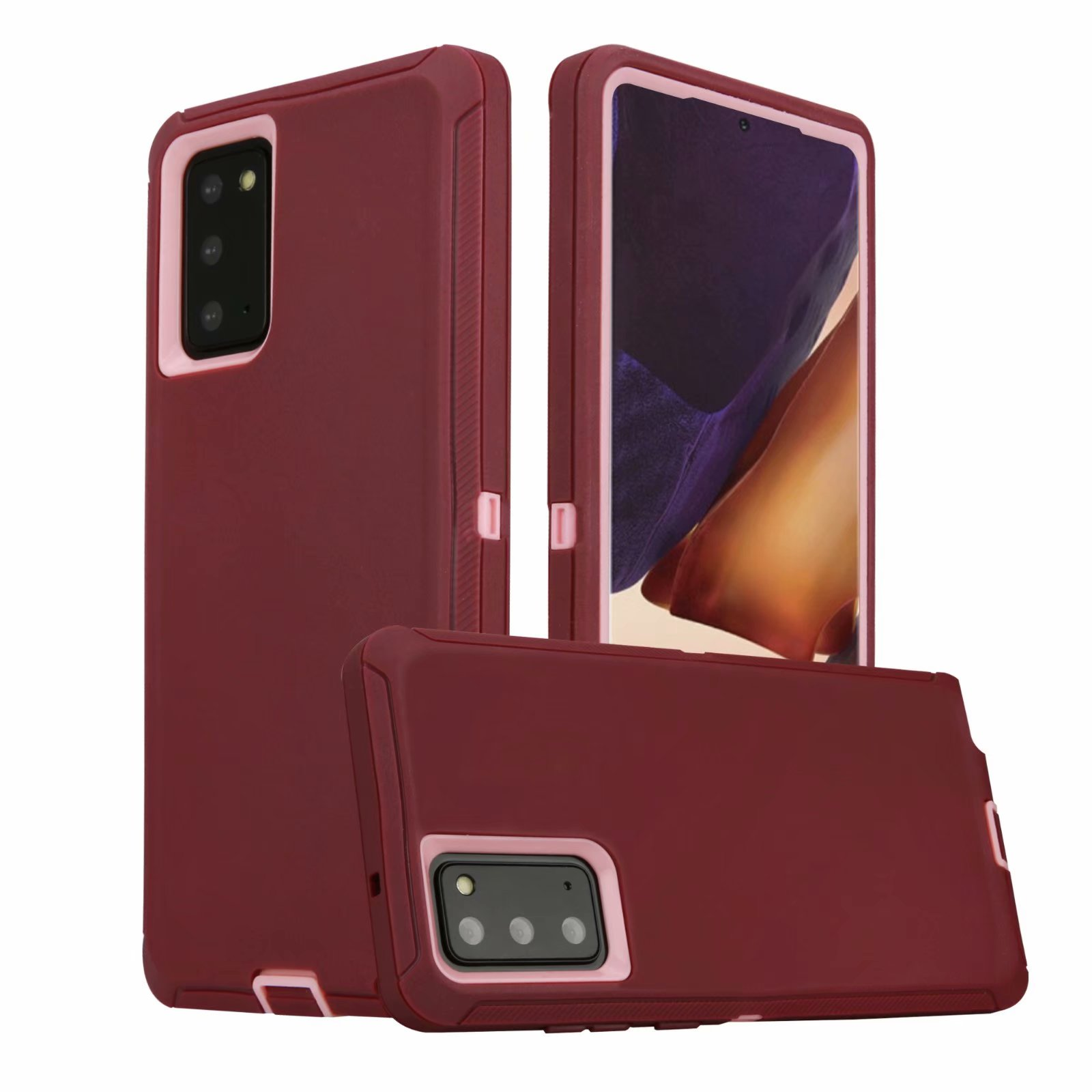 Defend Heavy Duty For SAMSUNG NOTE 20 –BURGUNDY