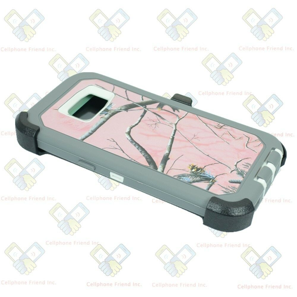 Defend Heavy Duty For SAMSUNG Glaxy S7–Pink Camo