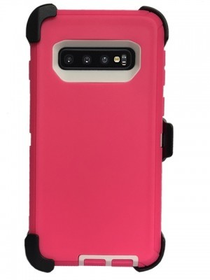 Defend Heavy Duty For SAMSUNG Glaxy S10 Plus-Pink
