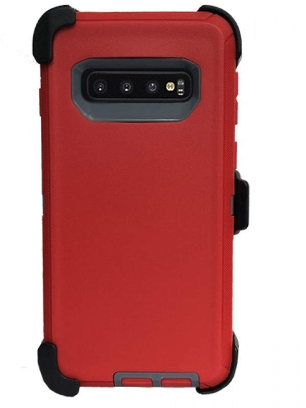 Defend Heavy Duty For SAMSUNG Glaxy S10 Plus-Red