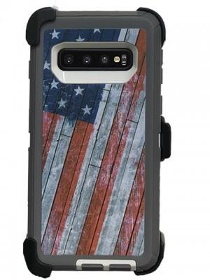 Defend Heavy Duty For SAMSUNG Glaxy S10 Plus-U.S Flag