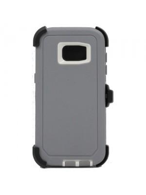 Defend Heavy Duty For SAMSUNG Galaxy S7 EDGE–Gray & White