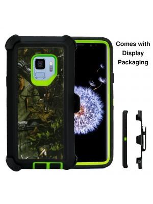 Defend Heavy Duty For SAMSUNG Glaxy S9-Green Camo