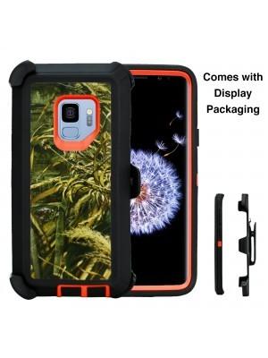 Defend Heavy Duty For SAMSUNG Glaxy S9-Orange Camo