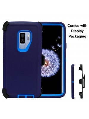 Defend Heavy Duty For SAMSUNG Glaxy S9-Navy Blue