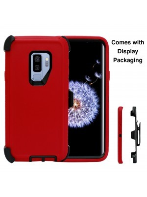 Defend Heavy Duty For SAMSUNG Glaxy S9-Red