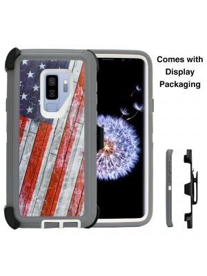 Defend Heavy Duty For SAMSUNG Glaxy S9 Plus-U.S Flag
