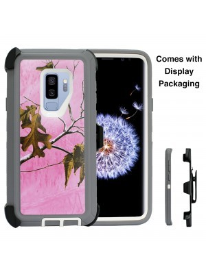 Defend Heavy Duty For SAMSUNG Glaxy S9-Pink Camo