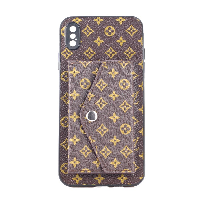 Luxurious Back Wallet Series For Apple iPhone XS Max -Brown